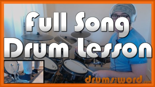 """Losing My Religion"" - (R.E.M.) Full-Song Video Drum Lesson Notation Chart Transcription Sheet Music Drum Lesson"