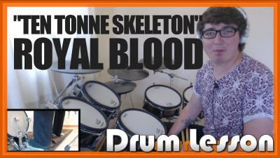 """Ten Tonne Skeleton"" - (Royal Blood) Full-Song Video Drum Lesson Notation Chart Transcription Sheet Music Drum Lesson"