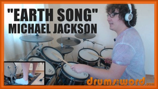 """Earth Song"" - (Michael Jackson) Full-Song Video Drum Lesson Notation Chart Transcription Sheet Music Drum Lesson"