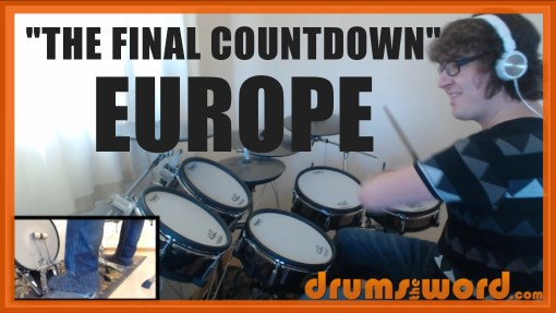 """""""The Final Countdown"""" - (Europe) Full-Song Video Drum Lesson Notation Chart Transcription Sheet Music Drum Lesson"""