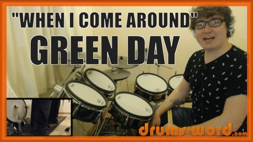 """""""When I Come Around"""" - (Green Day) Full-Song Video Drum Lesson Notation Chart Transcription Sheet Music Drum Lesson"""