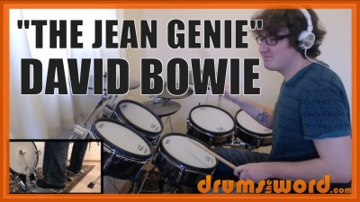 """""""The Jean Genie"""" - (David Bowie) Full-Song Video Drum Lesson Notation Chart Transcription Sheet Music Drum Lesson"""
