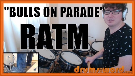 """Bulls On Parade"" - (Rage Against The Machine) Full-Song Video Drum Lesson Notation Chart Transcription Sheet Music Drum Lesson"