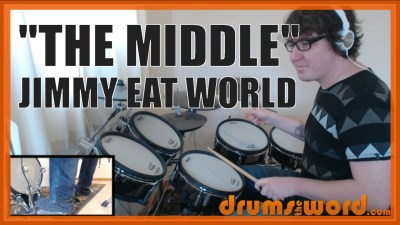 """The Middle"" - (Jimmy Eat World) Full-Song Video Drum Lesson Notation Chart Transcription Sheet Music Drum Lesson"