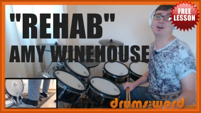 """Rehab"" - (Amy Winehouse) Full-Song Video Drum Lesson Notation Chart Transcription Sheet Music Drum Lesson"