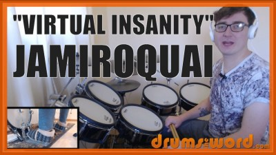 """Virtual Insanity"" - (Jamiroquai) Full-Song Video Drum Lesson Notation Chart Transcription Sheet Music Drum Lesson"