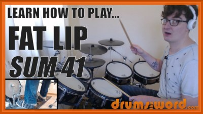 """Fat Lip"" - (Sum 41) Full-Song Video Drum Lesson Notation Chart Transcription Sheet Music Drum Lesson"