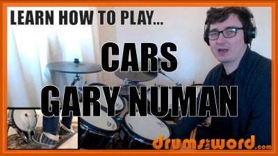 """Cars"" - (Gary Numan) Full-Song Video Drum Lesson Notation Chart Transcription Sheet Music Drum Lesson"