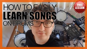 """""""How To Easily Learn Songs On Drums"""" - (DrumsTheWord) Video Drum Lesson Notation Chart Transcription Sheet Music Drum Lesson"""