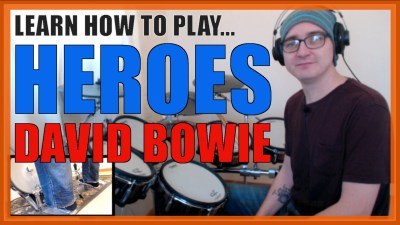 """Heroes"" - (David Bowie) Full-Song Video Drum Lesson Notation Chart Transcription Sheet Music Drum Lesson"