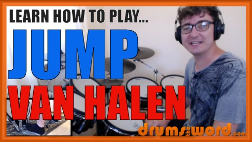 """Jump"" - (Van Halen) Full-Song Video Drum Lesson Notation Chart Transcription Sheet Music Drum Lesson"