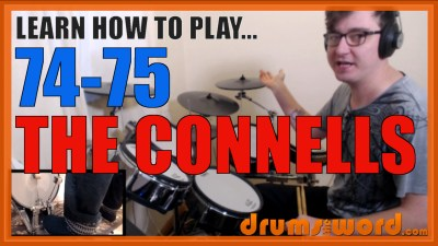 """74-75"" - (The Connells) Full-Song Video Drum Lesson Notation Chart Transcription Sheet Music Drum Lesson"