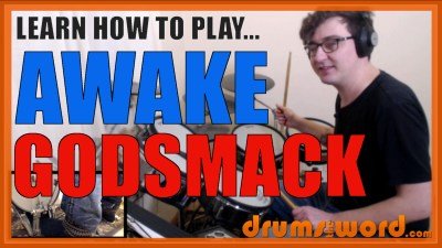 """Awake"" - (Godsmack) Full-Song Video Drum Lesson Notation Chart Transcription Sheet Music Drum Lesson"