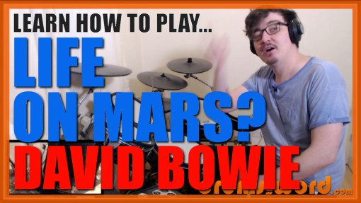 """Life On Mars?"" - (David Bowie) Full-Song Video Drum Lesson Notation Chart Transcription Sheet Music Drum Lesson"