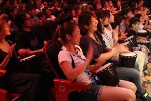 Audience Drumming Drum Struck Japan