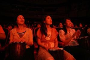 Drum Struck Japan Audience Members