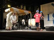 A young audience member brought onstage