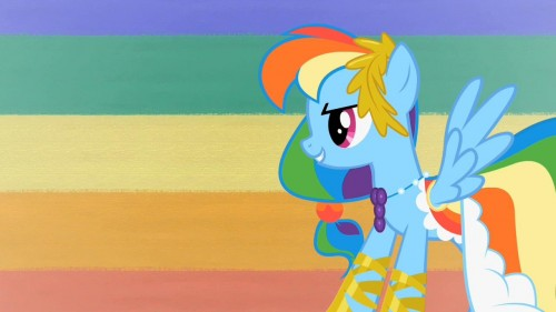 rainbow dash in her dashing outfit 500x281 rainbow dash in her dashing outfit