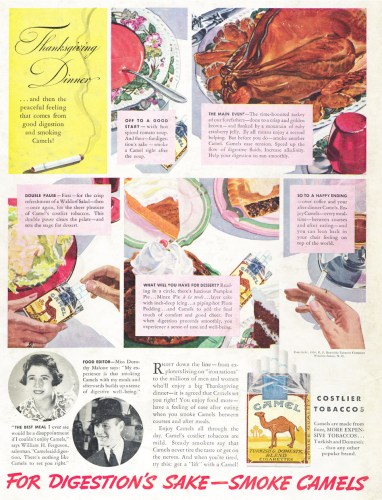 thanksgiving dinner with Camel Brand Tobacco 382x500 thanksgiving dinner with Camel Brand Tobacco