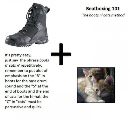 beatboxing 101 boots n cats 500x461 beatboxing 101   boots n cats