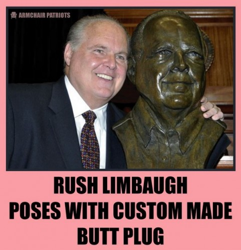 rush limbaugh poses with custom made butt plug 481x500 rush limbaugh poses with custom made butt plug