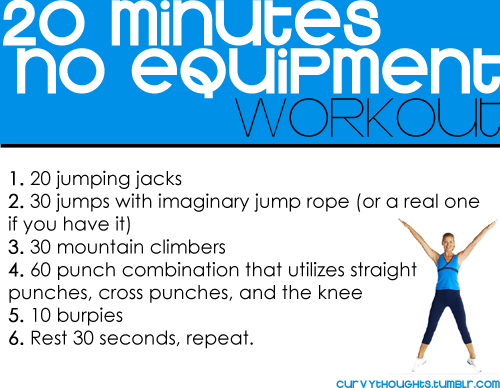 20 minutes no equipment workout 20 minutes no equipment workout