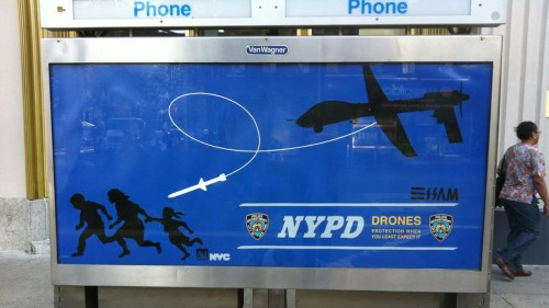 NYPD drone posters 500x281 NYPD drone posters
