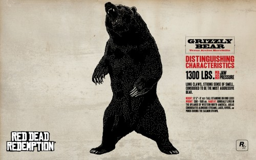 red dead redemption grizzly bear 500x312 red dead redemption   grizzly bear