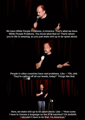 White people problesm in america Louie CK 357x500 White people problesm in america   Louie CK