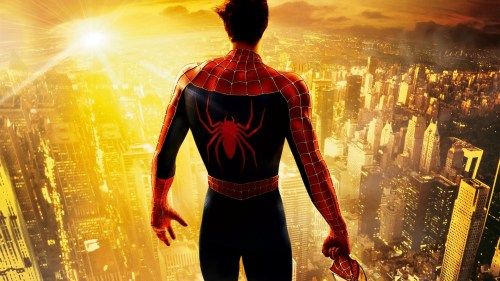 spider man on top of the city with no mask 500x281 spider man on top of the city with no mask