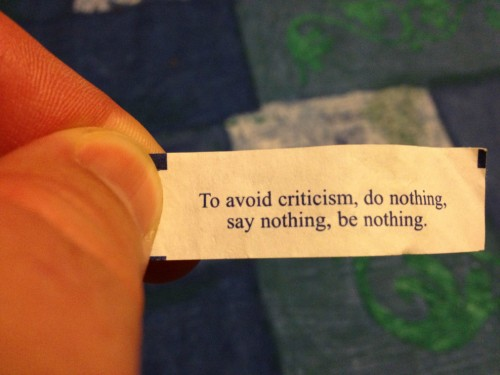 to avoid criticism do nothing say nothing be nothing 500x375 to avoid criticism, do nothing, say nothing, be nothing