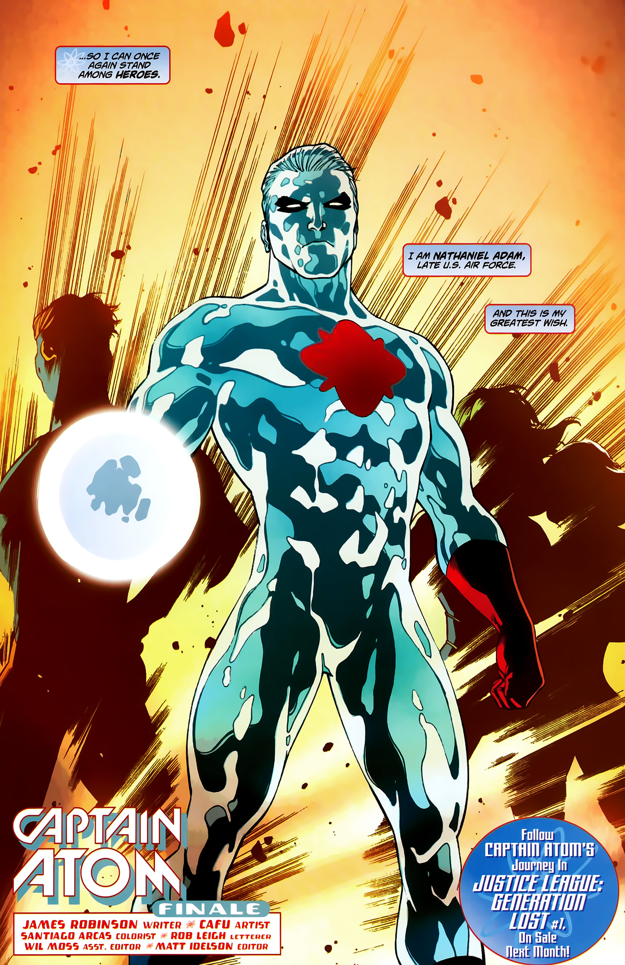 Captain Atom is among heroes Captain Atom is among heroes