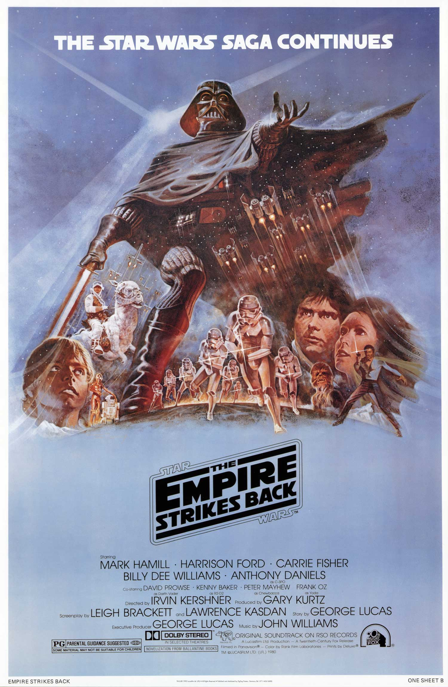 Star Wars The Empire Strikes Back movie poster Star Wars   The Empire Strikes Back movie poster