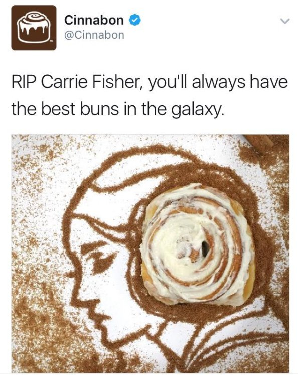 RIP Carrie Fisher you had the best buns RIP Carrie Fisher, you had the best buns