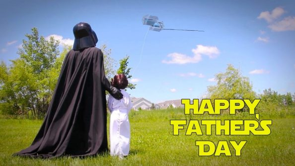 Vader with his Daughter flying a kite 1024x576 Vader with his Daughter flying a kite