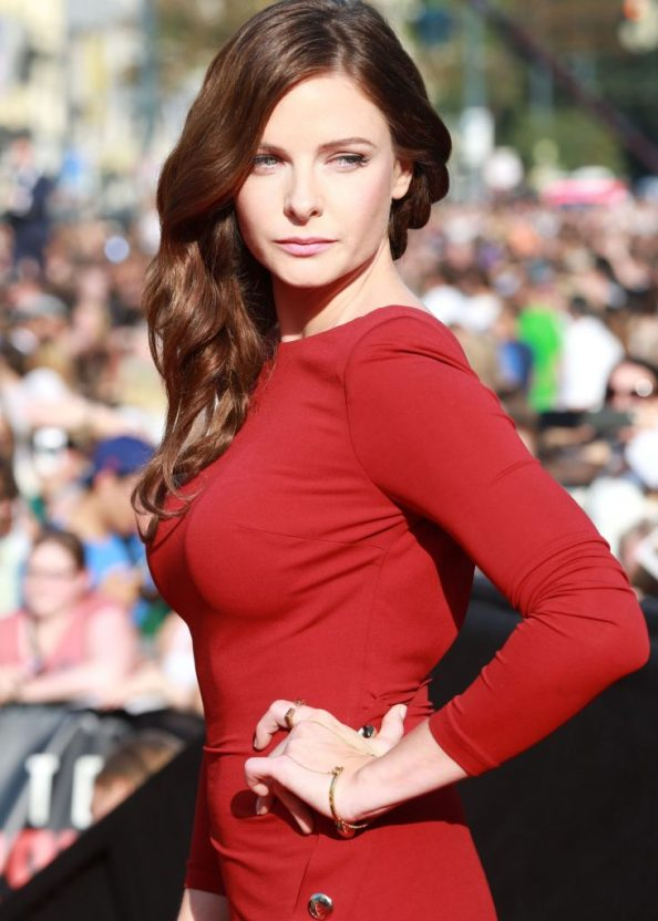 Rebecca Ferguson in a red dress 731x1024 Rebecca Ferguson in a red dress