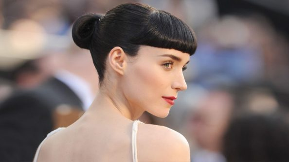 Rooney Mara with her hair up 1024x576 Rooney Mara with her hair up