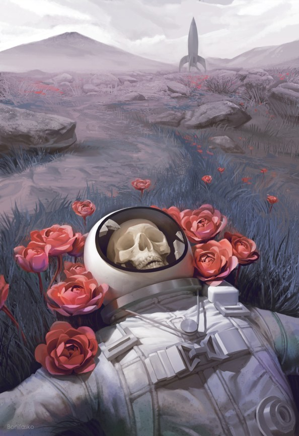 dead among the flowers