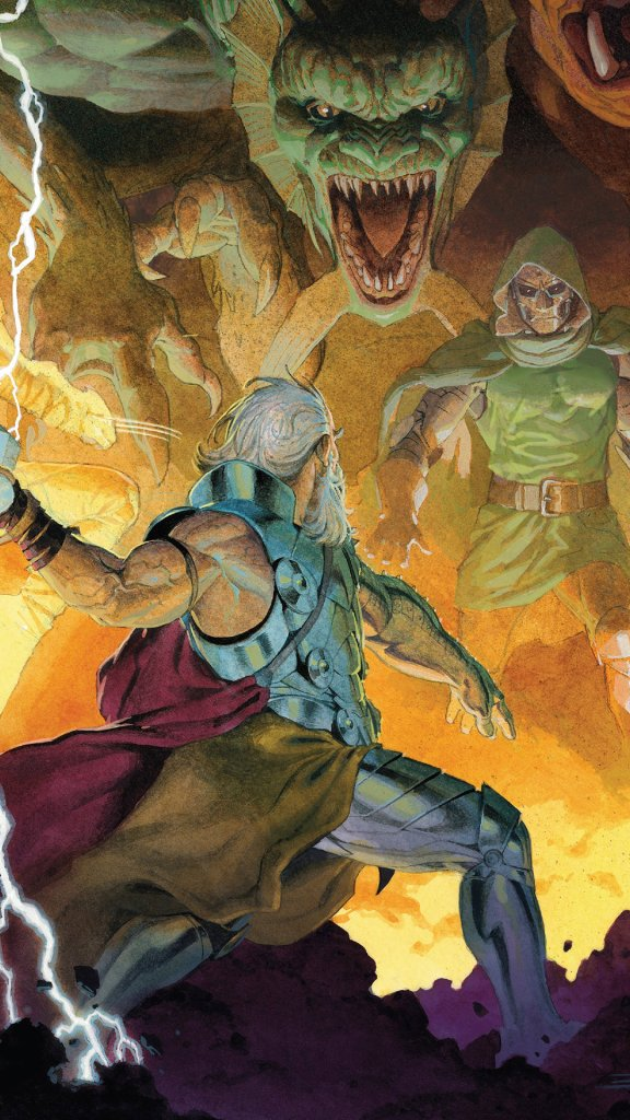 thor vs doctor doom and fing fang foom