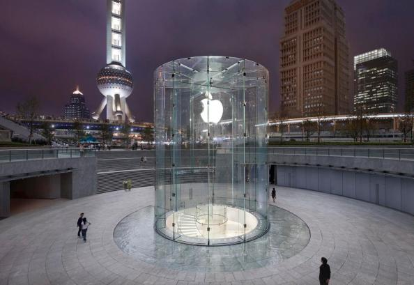 apple glass stairs