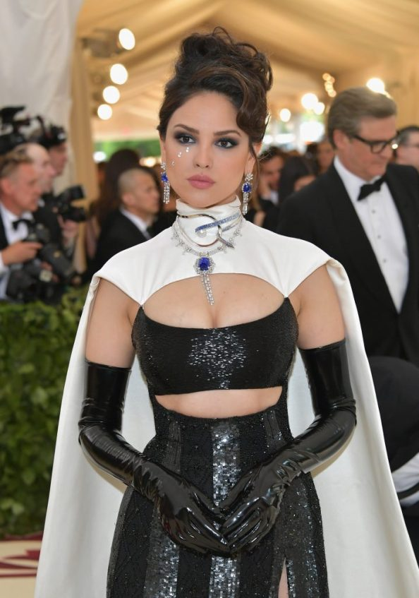 Eiza Gonzalez in a cape