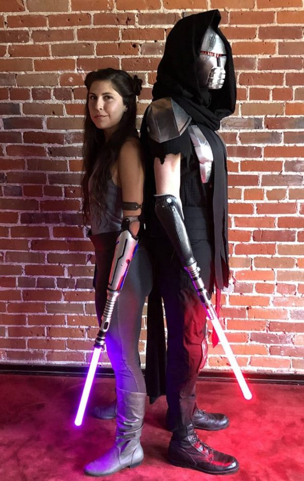 stumpy laser sword cosplayers