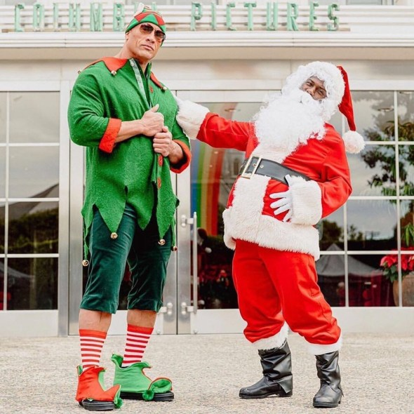The Rock and Kevin Hart have a christmas date