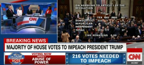 Donald Trump has been impeached