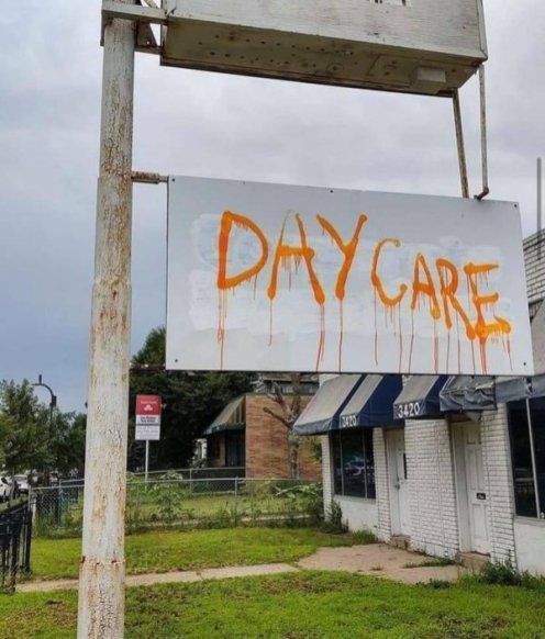 day care sign