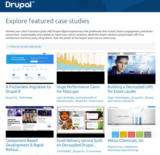 Drupal.org Case Study page