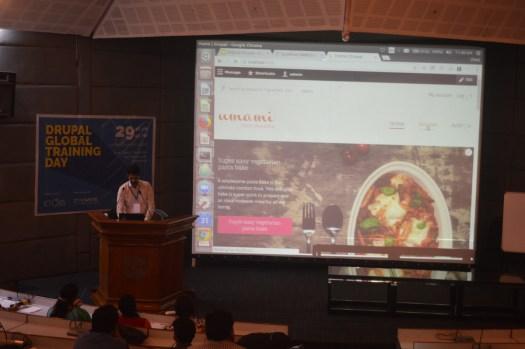 Vimal Joseph speaks with Umami demo showing on screen