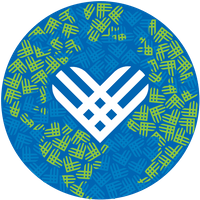 Giving Tuesday icon logo globe with heart