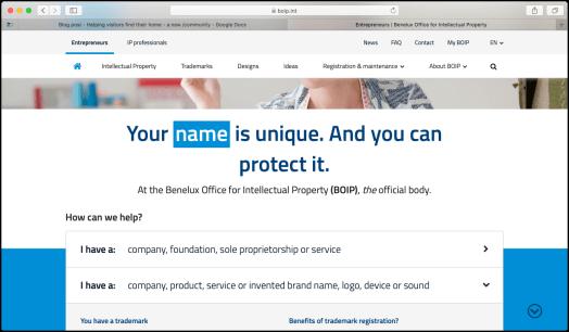 screenshot of biop.int