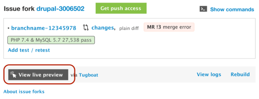 Upcoming ui revision for live previews on Drupal Core merge requests